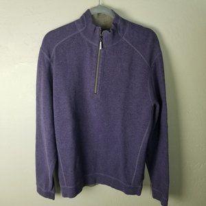 Tommy Bahama Mens M Reversible Purple Grey Long Sl